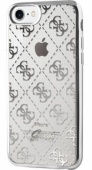 Чехол Guess для iPhone 7 4G Transparent Hard TPU Silver (GUHCP7TR4GSI)