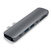"USB-хаб Satechi Aluminum Type-C Pro Hub Adapter для MacBook Pro 13""/15"" 2016 (Space Gray)"