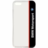 Чехол BMW для iPhone 5S/SE Motorsport Transparent Hard TPU Navy (BMHCPSETVNA)