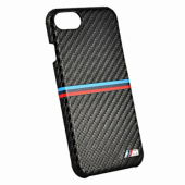 Чехол BMW для iPhone 7/8 M-Collection Carbon inspiration Hard PU, Black (BMHCP7MSSCA)