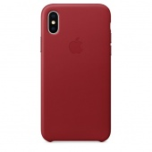 Кожаный чехол Apple Leather Case для iPhone X, цвет (PRODUCT)RED (MQTE2ZM/A)
