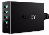 Сетевой адаптер Aukey Fast Charge Qualcomm QC 3.0 PA-Y5 (Black)