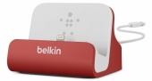 Докстанция Belkin Charge + Sync Dock для iPhone 5/6, красный (F8J045bt-RED)