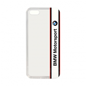 Чехол BMW для iPhone 5S/SE Motorsport Transparent Hard TPU White (BMHCPSETVWH)